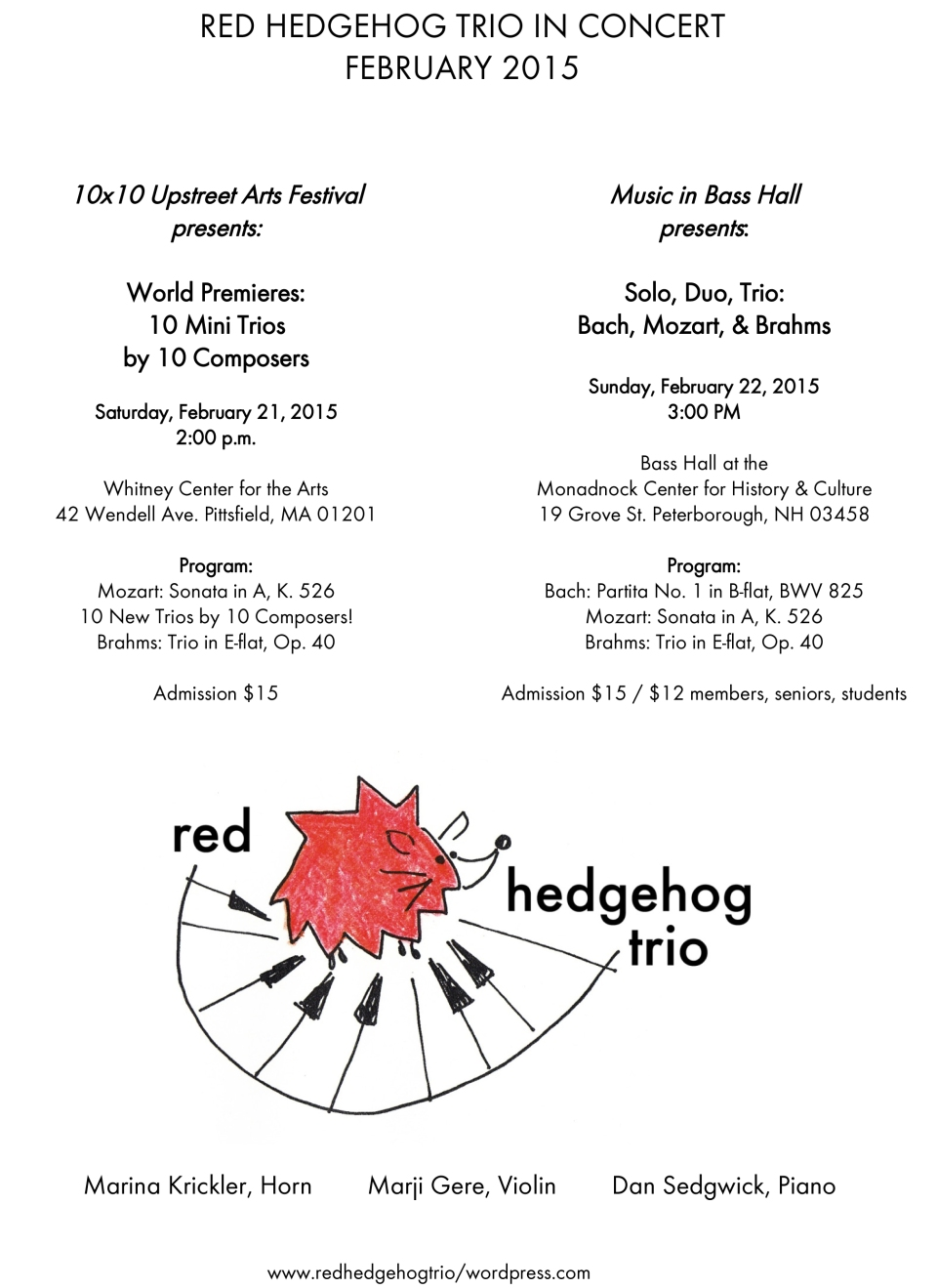 Feb Concert Poster