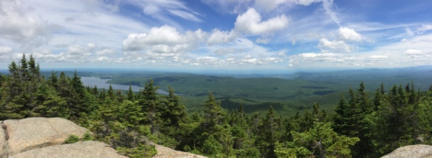 A view from the top of Lyon Mountain, near where we stayed in Saranac.